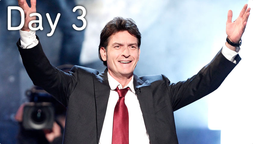 Day 3 - March 1 - Charlie Sheen's