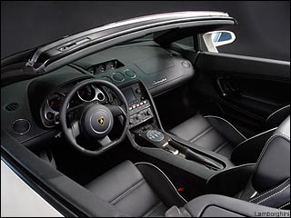 Lamborghini Gallardo interior