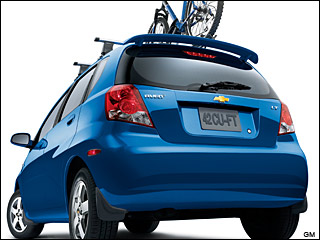 blue Chevy Aveo