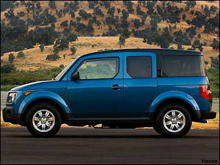 blue Honda Element
