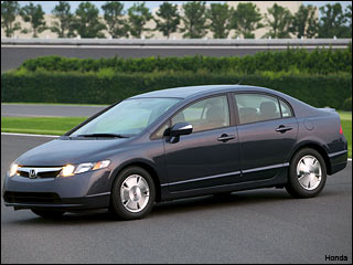 grey 2009 Honda Civic Hybrid