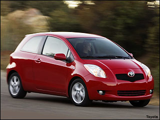 red Toyota Yaris