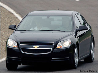 black Chevy Malibu