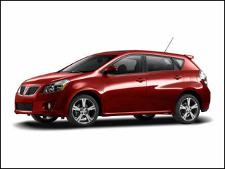 dark red Pontiac Vibe