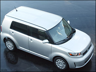 white Scion xB