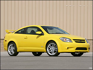 yellow Chevy Cobalt