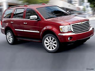 red Chrysler Aspen Hybrid SUV