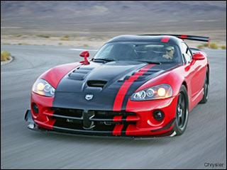 red Dodge Viper SRT 10 2008