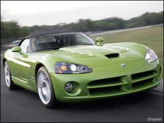 green Chrysler sports car