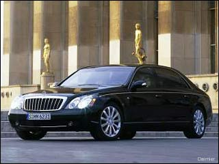 08 Maybach 62 black sports car