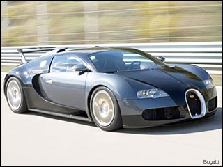 grey 08 Bugatti Veyron sports car