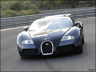 black buggatti Veyron sports car