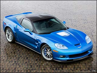 blue chevy Corvette ZR1 sport