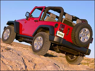 red 2009 Jeep Wrangler