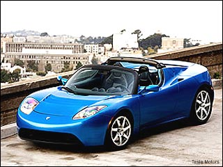 tesla roadster electric car