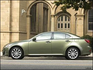 green Lexus cars