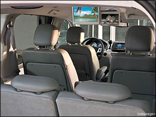 2009 vw routan interior