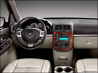 2008 chevy uplander interior