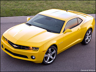 yellow 2010 Chevy Camaro