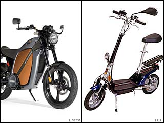 Electric Scooters, motorcycles