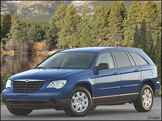 Chrysler Pacifica winter driving