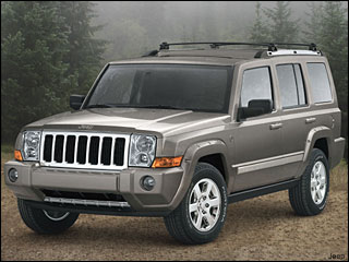 Jeep Commander winter driving