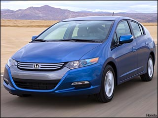blue 2010 Honda Insight