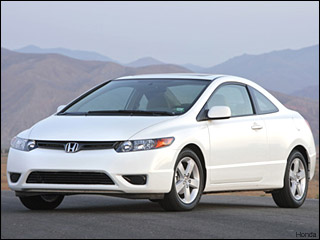 white Honda Civic coupe