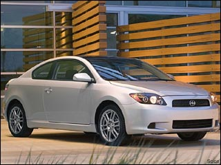 silver Scion tC coupe