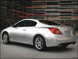 white Nissan Altima coupe