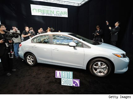 auto verde de 2012 honda civic