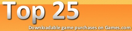 Top 25 Downloadable Games purchases on Games.com