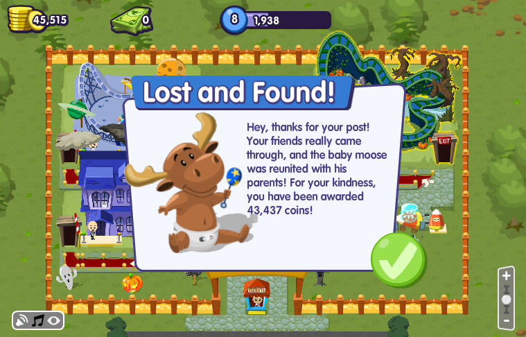 roller coaster kingdom baby moose found!