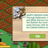 FarmVille: Owls Come to Nest On Your Virtual Farm for Halloween