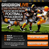 GridIron Live Football Game Rushes onto Facebook