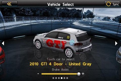 Online Auto Racing Game on Play Iphone Game  Win Vw Gti