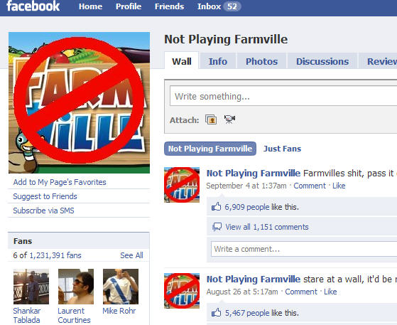farmville anti-fan page on facebook