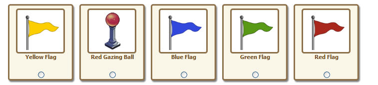 FarmVille colored flags added to giftable items.