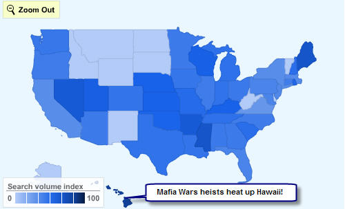 Mafia Wars on Facebook kills it in Hawaii