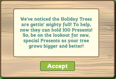 farmville holiday tree now holds 100 gifts