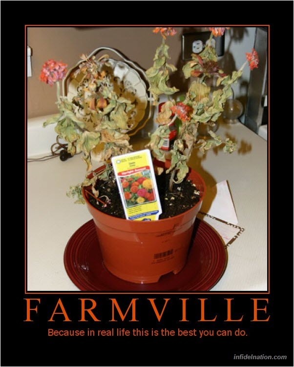 Farmville addiction deserves some demotivational posters