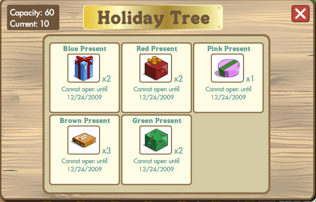 farmville holiday tree