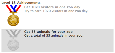 zoo world achivements