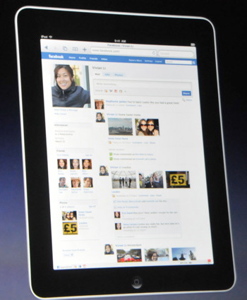 No Facebook games on the Apple iPad -- sorry!