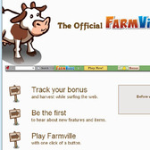 FarmVille game bar -- Keep track of your crops when you're off the farm