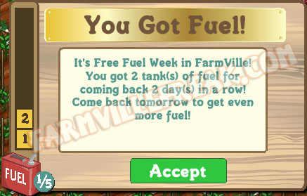 farmville 2 tanks of fuel notice