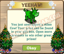 farmville alien cow unwrapped