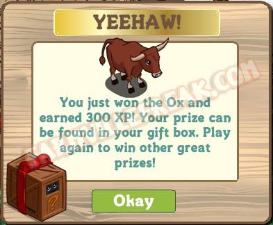 farmville animal mystery box ox