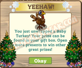farmville baby turkey unwrapped