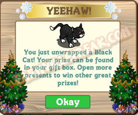 farmville black cat unwrapped